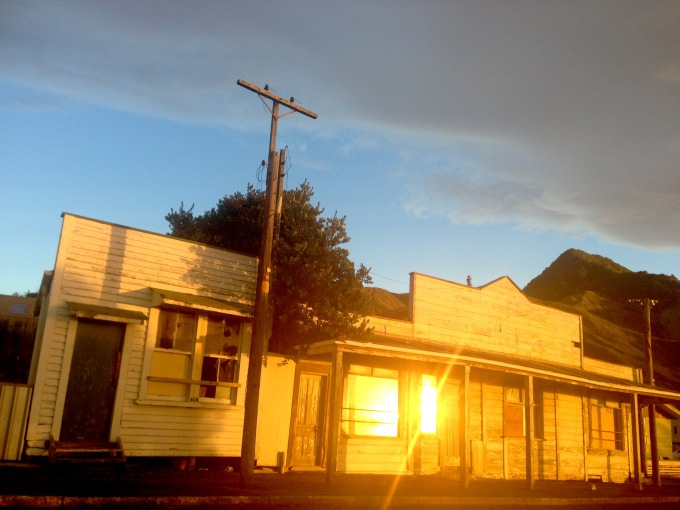 Sunrise in the windows of an 100 year old building in Tokomaru Bay on the morning the Mixed Fortunes report was released. #metaphor