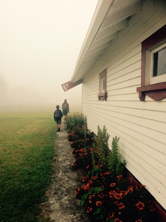 Off to school, April 2015